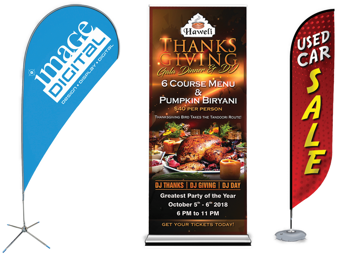 Pull up banner in Sherwood Park by Universal Printing in Edmonton region