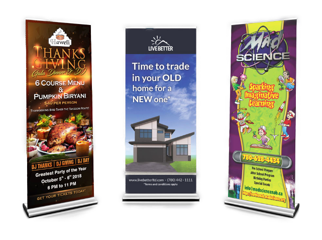 Pull up banner design and printing in Edmonton