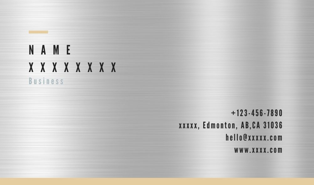Stainless steel business card printing